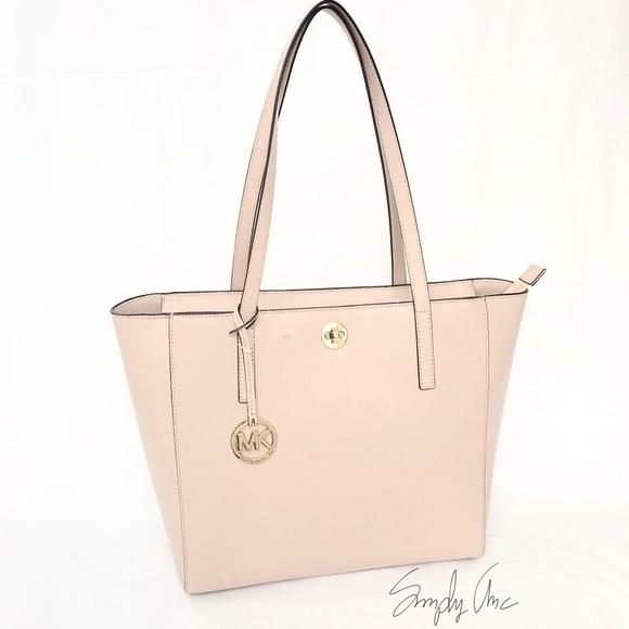 6161a33f1744 Michael Kors Bags | New Authentic Mk Rivington Top Zip Tote Ballet ...